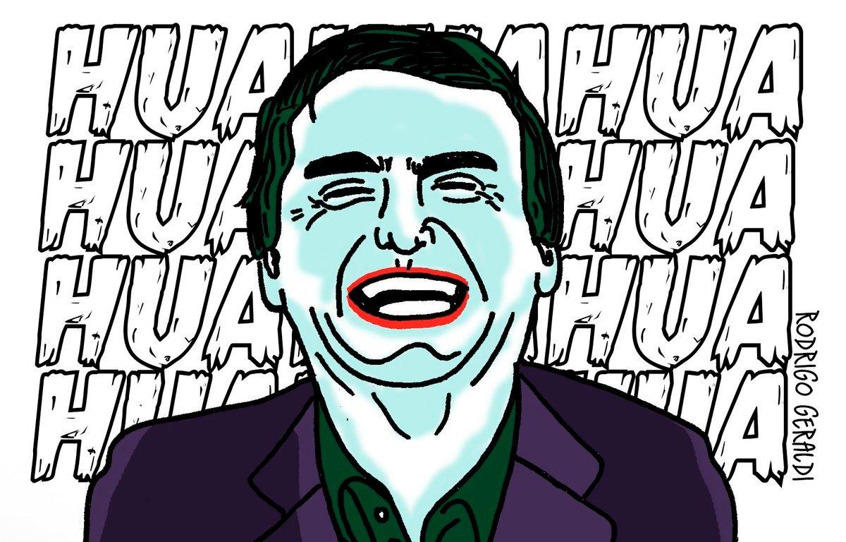 """Bolsonaro aparece como o Coringa em """"A piada Mortal"""" dos Comics de Batman"""